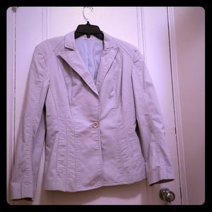 Jackets & Blazers - Light blue (almost gray) twill cotton blazer